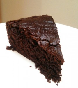 Chocolate cake with yogurt and ginger